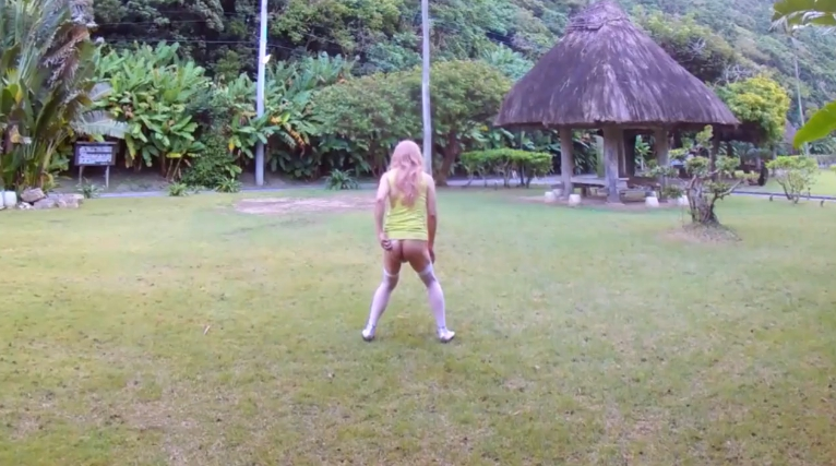 Beautiful garden - Shemale Outdoor Piss and Shit (HD-720p) Image 3
